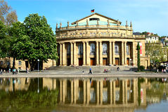 Stuttgarts Opera. Building in the Palace Garden Royalty Free Stock Photo