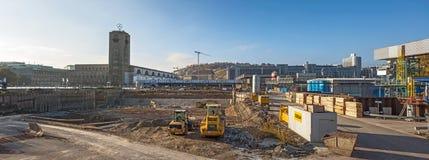 Stuttgart 21, S21 - railway project Royalty Free Stock Photos