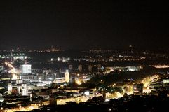 Stuttgart Skyline #2. City of Stuttgart by night Royalty Free Stock Photography