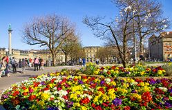 Stuttgart in spring. Time with colorful flowers, Germany Stock Image