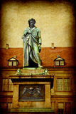 Stuttgart, statue of Friedrich Schiller Royalty Free Stock Photo