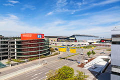 Stuttgart trade fair Messe near airport Royalty Free Stock Photo