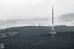 Stuttgart TV Tower Fernsehturm Monochrome View Germany Building Stock Photography