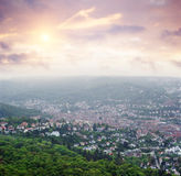 Stuttgart view from oldest tv tower Stock Photography