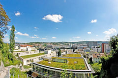 Stuttgart, vocational academy. View over Stuttgart, Germany with the university of cooperative education in the foreground royalty free stock photos