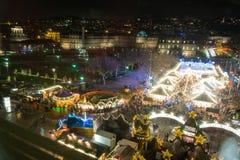 Stuttgart Weihnachtsmarkt Schlossplatz 2016 Christmas Market Nig Royalty Free Stock Photos