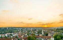 Stuttgart z budynkami i drzewami Zdjęcia Royalty Free