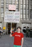 Stuttgart21 - K21 protest Royalty Free Stock Images