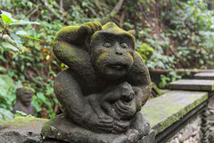 Stutue in Sacred Monkey Forest, Ubud, Bali, Indonesia Stock Images