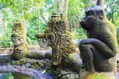 Stutue in Sacred Monkey Forest, Ubud, Bali, Indonesia Stock Image