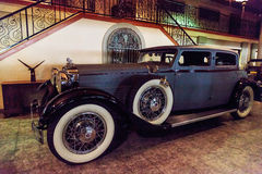 1928 Stutz 8 BB black hawk speedster. El Segundo, CA, USA - September 26, 2016: 1928 Stutz 8 BB black hawk speedster displayed at the Automobile Driving Museum Stock Images