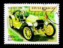 Stutz Bearcat, 1914, serie d'annata delle automobili, circa 1998 Immagine Stock