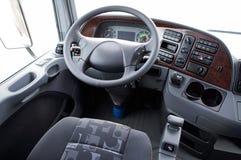 Stuurwiel in een vrachtwagen Royalty-vrije Stock Afbeeldingen