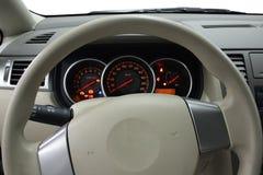 Stuurwiel en dashboard royalty-vrije stock foto