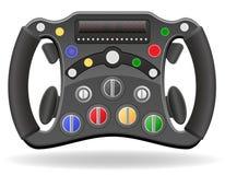 Stuurwiel van raceauto vectorillustratie EPS 10 Stock Foto's