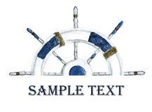 Stuurwiel voor schepen en boten stock illustratie