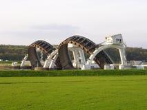 Stuw Driel, плотина в реке Рейне (Nederrijn, Нидерланды) стоковое изображение rf