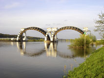 Stuw Driel, la diga in fiume il Reno (Nederrijn, Paesi Bassi) fotografie stock