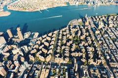 Stuyvesant镇和彼得木桶匠村庄在纽约 库存照片