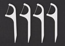Stuzzicadenti del filo per i denti Immagini Stock Libere da Diritti