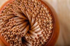 Stuzzicadenti di legno Fondo Immagini Stock
