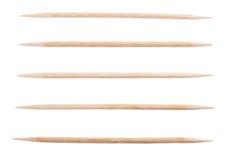Stuzzicadenti di legno isolati Fotografia Stock