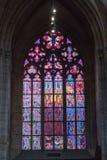 StVitus在布拉格城堡的大教堂内部 库存照片