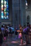 StVitus在布拉格城堡,捷克的大教堂内部 图库摄影