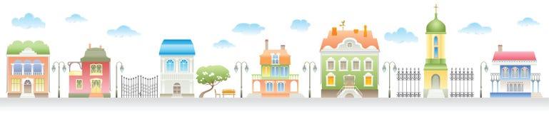 stwarzać ognisko domowe ulicę ilustracja wektor