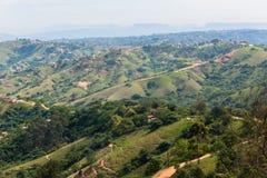 Stwarza ognisko domowe Afryka Wiejskiego krajobraz Zdjęcia Royalty Free