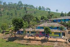 Stwarza ognisko domowe dla herbacianych nieruchomość pracowników w tamil nadu, India Obrazy Stock