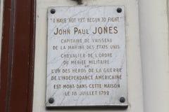 Stwarza ognisko domowe John Paul Jones, ojciec Amerykańska marynarka wojenna która powiedział 'mimo to zaczynający walczyć' strza Zdjęcie Royalty Free