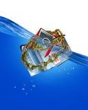 Stwarza ognisko domowe Pod wodą. ilustracja wektor