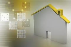 Stwarza ognisko domowe z dachem ilustracji