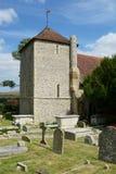 StWulfrans-Kirche Ovingdean, Sussex, Großbritannien Lizenzfreie Stockbilder