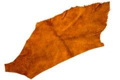Stycke av brunt läder Arkivfoto