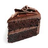 Stycke av den smakliga hemlagade chokladkakan royaltyfri foto