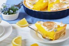 Stycke av den syrliga klassiska franska citronen Royaltyfri Foto