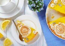 Stycke av den syrliga klassiska franska citronen Arkivbild