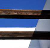 Stycke av det bruna taket i himlen lanzarote Spanien Arkivbilder