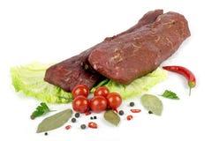Stycke av kött Arkivbilder
