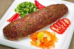 Stycke av köttfärslimpan Arkivbilder