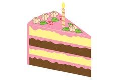 Stycke av kakan Arkivfoto