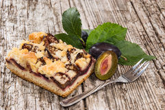 Stycke av nya Plum Cake Royaltyfria Bilder