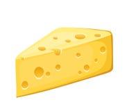 Stycke av ost. Arkivfoto