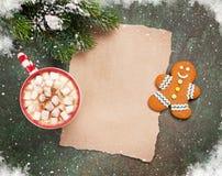 Stycke av papper för julönska Royaltyfria Bilder