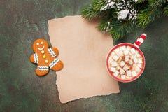 Stycke av papper för julönska Fotografering för Bildbyråer