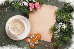 Stycke av papper för julönska Arkivbild