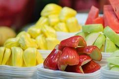 Stycke av thailändsk frukt Arkivbilder