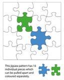 stycke för 16 jigsaw Royaltyfri Fotografi